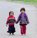 Ethnic Hmong children in Sapa, Vietnam Royalty Free Stock Images