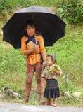 Ethnic Hmong children in Sapa, Vietnam Stock Photo