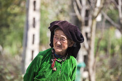 Ethnic Hmong old woman in Ha Giang, Vietnam Royalty Free Stock Photography