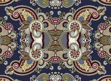 Ethnic horizontal  authentic decorative paisley Stock Image
