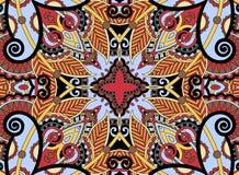 Ethnic horizontal  authentic decorative paisley Royalty Free Stock Photography