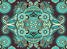 Ethnic horizontal  authentic decorative paisley Stock Image