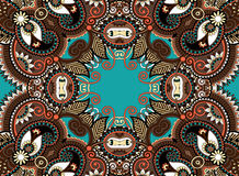 Ethnic horizontal  authentic decorative paisley Stock Photos
