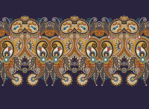 Ethnic horizontal  authentic decorative paisley Royalty Free Stock Photos
