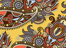Ethnic horizontal authentic decorative paisley Stock Images