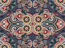 Ethnic horizontal authentic decorative paisley Royalty Free Stock Photo