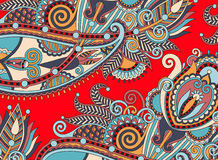 Ethnic horizontal authentic decorative paisley Royalty Free Stock Image
