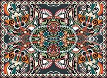 Ethnic horizontal authentic decorative paisley Stock Images