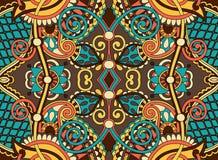 Ethnic horizontal authentic decorative paisley Stock Photos