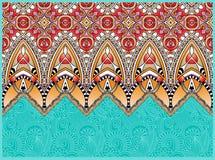 Ethnic horizontal authentic decorative paisley Stock Photography