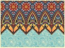 Ethnic horizontal authentic decorative paisley Royalty Free Stock Image