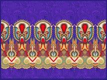 Ethnic horizontal authentic decorative paisley Royalty Free Stock Photos