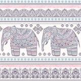 Ethnic Indian bohemian style elephant seamless pattern Royalty Free Stock Image