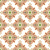 Ethnic Indian pattern. Vector image can be changed at any size Stock Photo