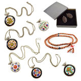 Ethnic jewelery set Stock Photo
