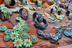 Ethnic jewelry souvenirs on sale stock photo