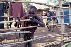 An ethnic Karamojong boy, Uganda stock photos