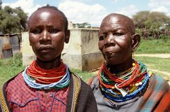 Ethnic Karamojong villagers, Uganda Royalty Free Stock Photography