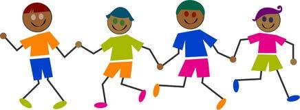 Ethnic kids Stock Image