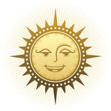 Ethnic laughing sun Stock Image