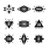 Ethnic Logo Set stock illustration