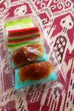 Ethnic Malay nonya cakes take away Stock Images
