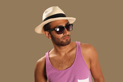 Ethnic man casual fashion Royalty Free Stock Photos