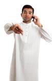 Ethnic man communicating Royalty Free Stock Photos