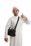 Ethnic man thumbs up approval Royalty Free Stock Photography