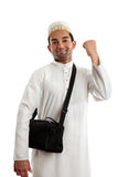 Ethnic man victory fist success Royalty Free Stock Photo