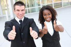 Ethnic Man and Woman Business Team Stock Photo