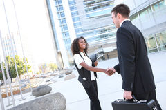 Ethnic Man and Woman Business Team stock image