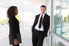 Ethnic Man and Woman Business Team Royalty Free Stock Photo