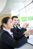 Ethnic man and Woman Business Team Stock Images
