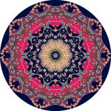 Ethnic mandala with flower. Round rug. Vector. Royalty Free Stock Photography