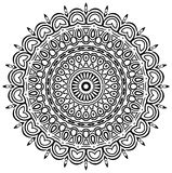Ethnic Mandala. Ornamental round mandala. Geometric circle element made in . Perfect for any other kind of design, birthday and other holiday, kaleidoscope Stock Photography