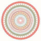 Ethnic mandala. Tribal hand drawn line geometric seamless pattern. Border. Doodles. Native vector illustration Stock Photo