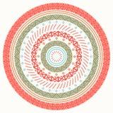 Ethnic mandala. Tribal hand drawn line geometric seamless pattern. Border. Doodles. Native vector illustration Stock Image