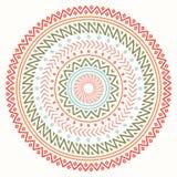 Ethnic mandala. Tribal hand drawn line geometric seamless pattern. Border. Doodles. Native vector illustration Royalty Free Stock Photo