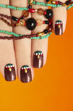 Ethnic manicure. Royalty Free Stock Photo