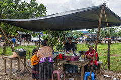 Ethnic markets in Guatemala Stock Images