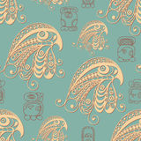Ethnic Maya texture with a totem 3 Royalty Free Stock Images