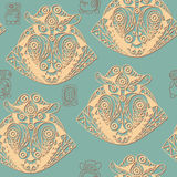 Ethnic Maya texture with a totem 1 Royalty Free Stock Photo