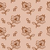 Ethnic mehendi flowers seamless background pattern
