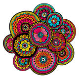 Ethnic mehndi ornament. Indian style. Beautiful doodle art floral composition. Doodle floral drawing. Zentangle ornament Royalty Free Stock Photography