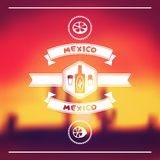 Ethnic mexican background design in native style Stock Photo