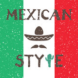 Ethnic mexican background design in native style Royalty Free Stock Photos
