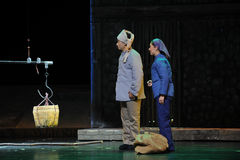 Ethnic minorities - Jiangxi opera a steelyard Stock Image