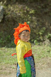 Ethnic minority baby wearing colorful clother Royalty Free Stock Images