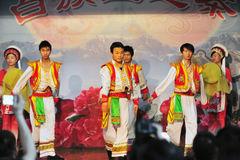 Ethnic minority dancing Royalty Free Stock Images